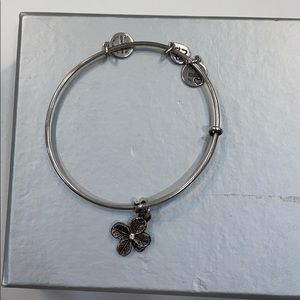 Silver Alex and Ani Flower Bracelet